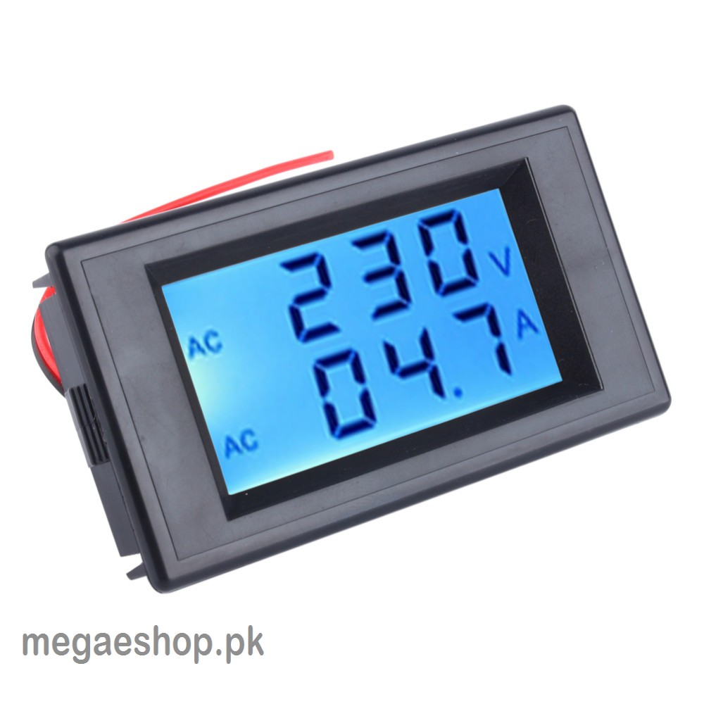 Double-Row Digital Dispay Voltage and Current Lcd Dual Panel Volt Amp Combo Meter 110v 220v 240v