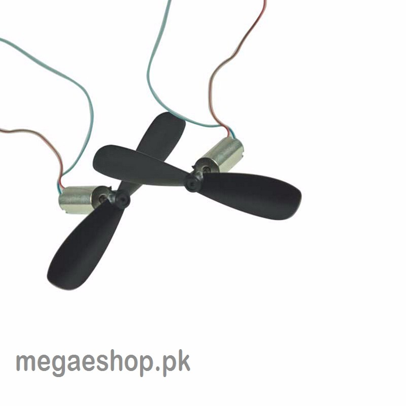 DC3.7V 614 6*14MM Micro DIY Helicopter Coreless DC Motor With Propeller Great Torque High Speed Motor