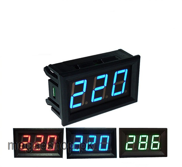 AC 110V 220V 380V Digital Voltmeter Home Use Voltage Display w/ 2 Wires