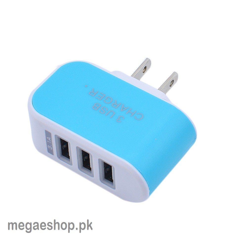 3 Ports USB Wall Charger 5V 2A Mobile Phone 220V Charger for Phones