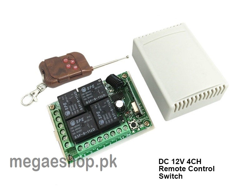 remote control switch rf wireless 4 channel 433mhz switch 12v dc 10a 4ch  4relays buy in pakistan  ]