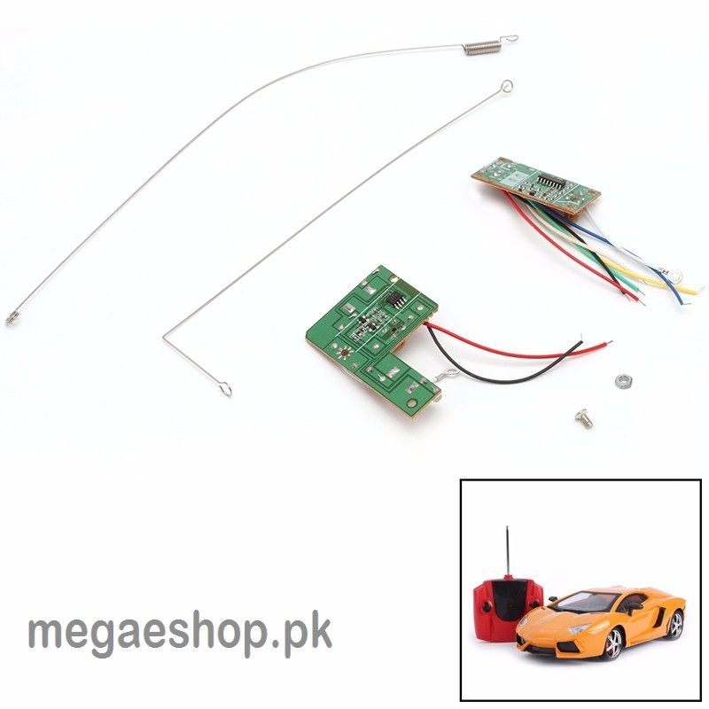 4CH 27MHZ Remote Control Circuit Board PCB Transmitter /Receives Antenna for RC Toys