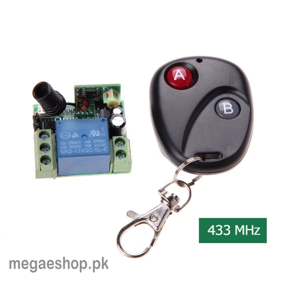 Remote Control Switch DC 12V 10A 433MHz 1Ch Transmitter with Receiver