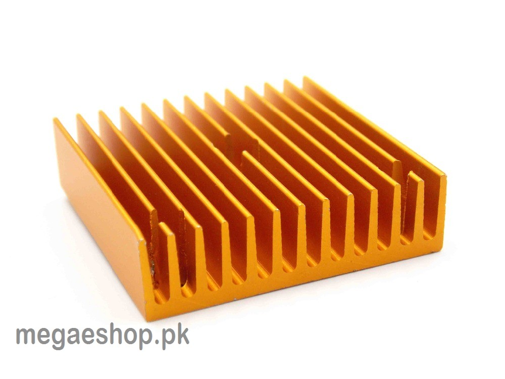 Golden Aluminum 40*40*11 Heat Sinks For MK7 / MK8 Extruder OR 3D printer etc