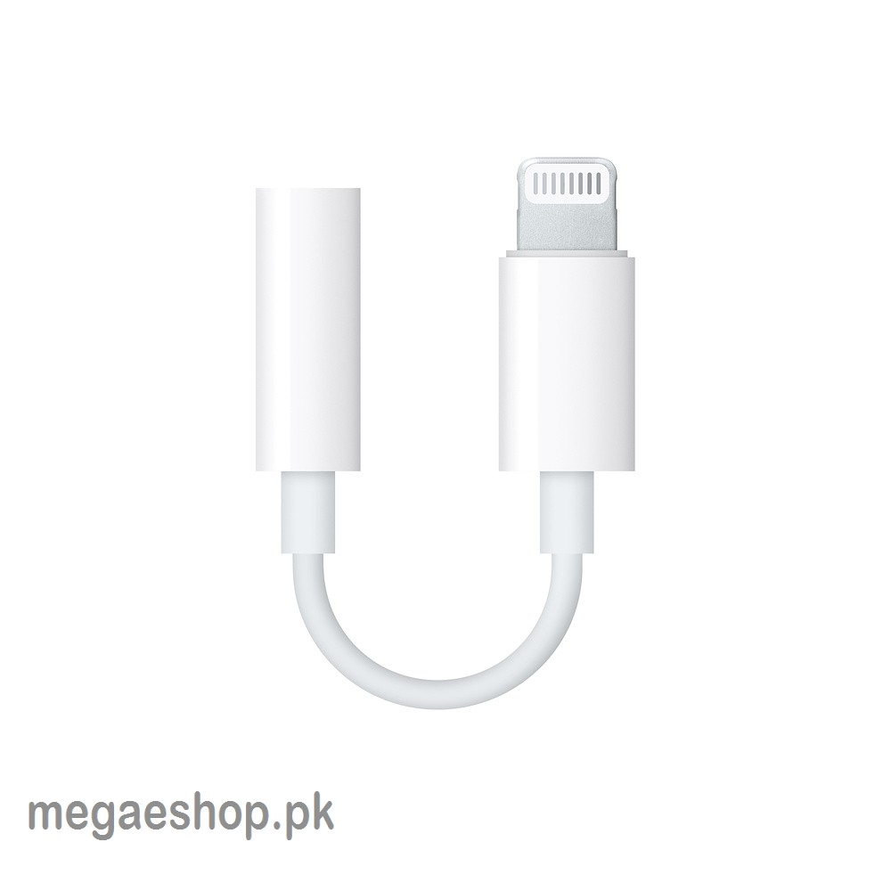 Lightning To 3.5mm Headphone Jack Adapter For IPhone - White