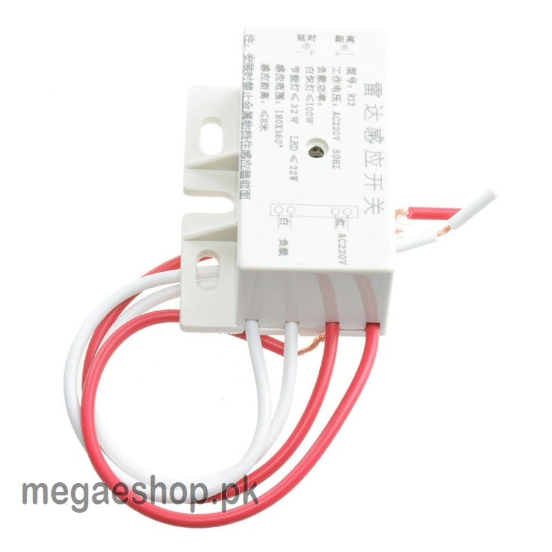 220V AC 50Hz Auto Infrared Human Sensor Switch PIR Microwave Radar Body Motion Sensor Module Adjustable For Time Distance Range