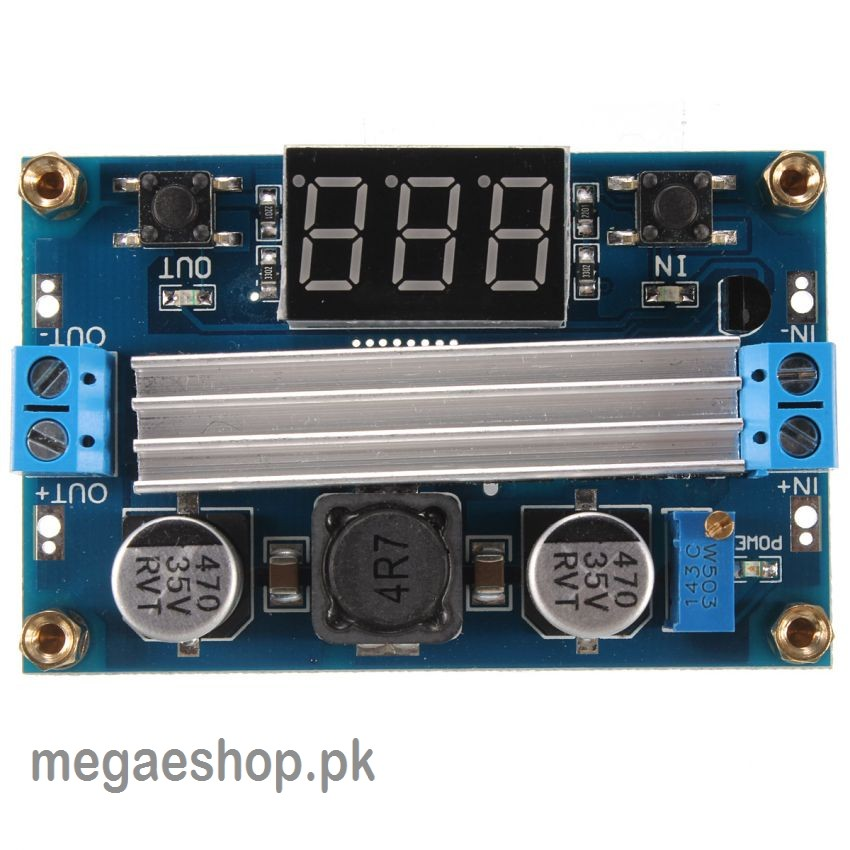 LTC1871 Boost Module 3.5 to 35V 100W With Dual Display Voltmeter