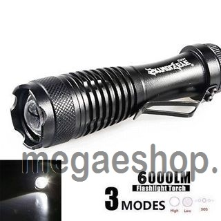 6000LM Flashlight 3Mode SuperBright LED MINI Q5 AA/14500 Light Zoomable Torch