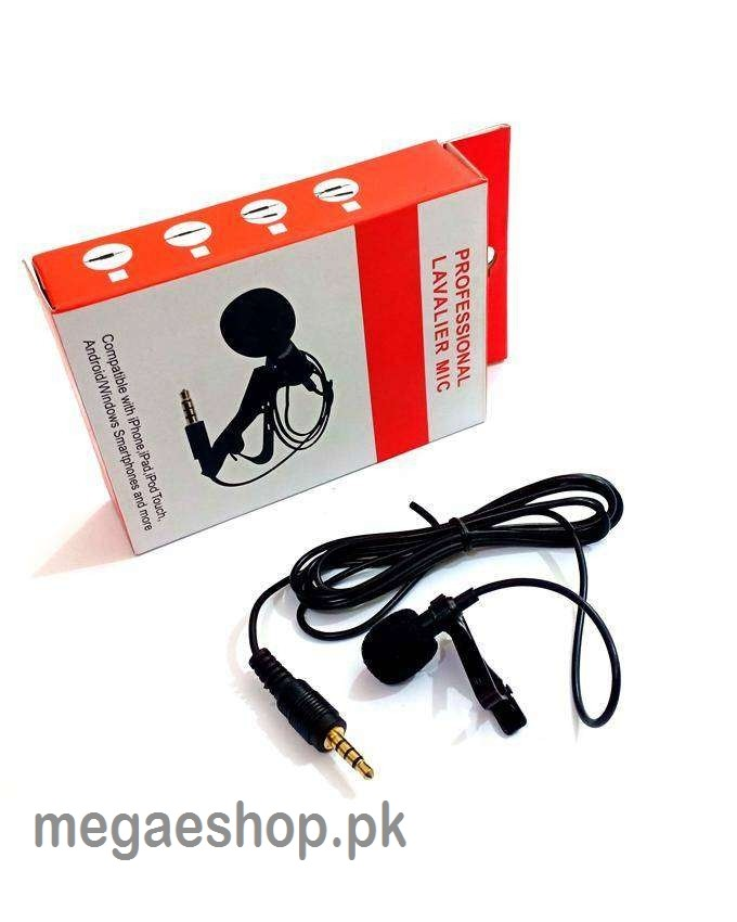 Professional Lavalier Microphone Best Clip-on System Lapel Mic Condenser for Rec