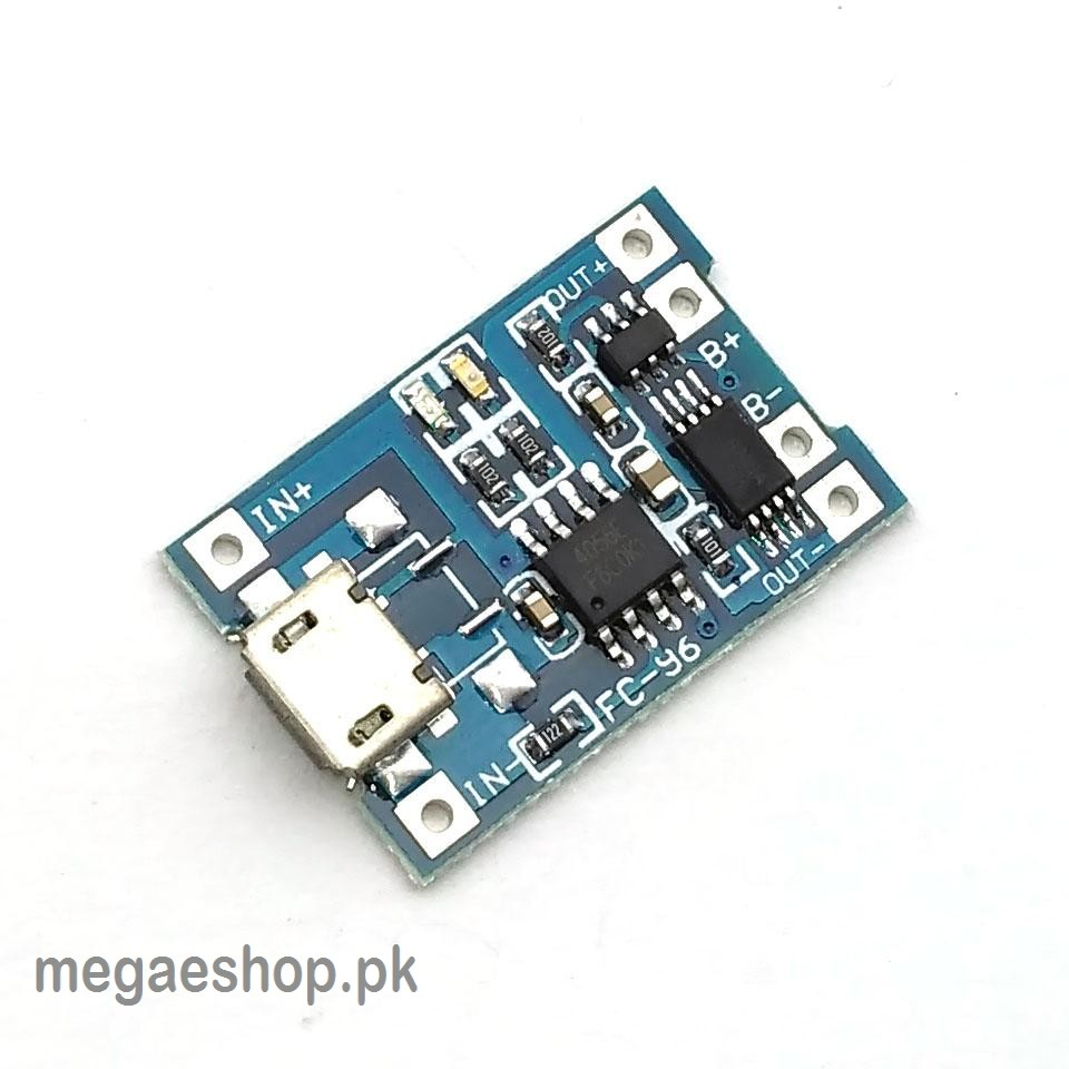 V 1A Micro USB 18650 Lithium Battery Charging Board Charger Module+Protection Dual Functions