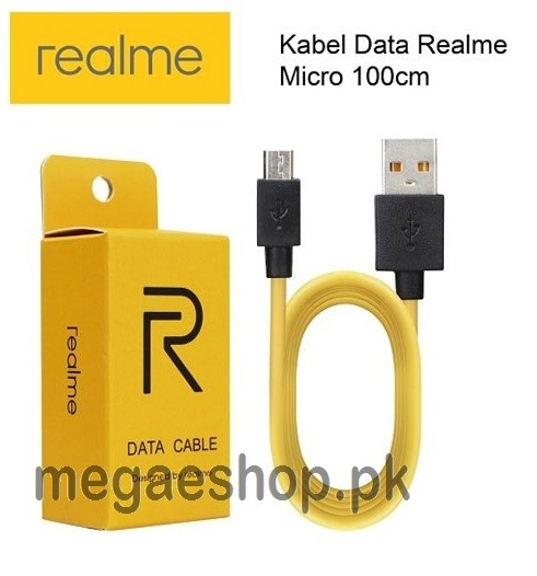 Realme Fast Data Cable Fast Charging Micro USB Cable Yellow (1M)