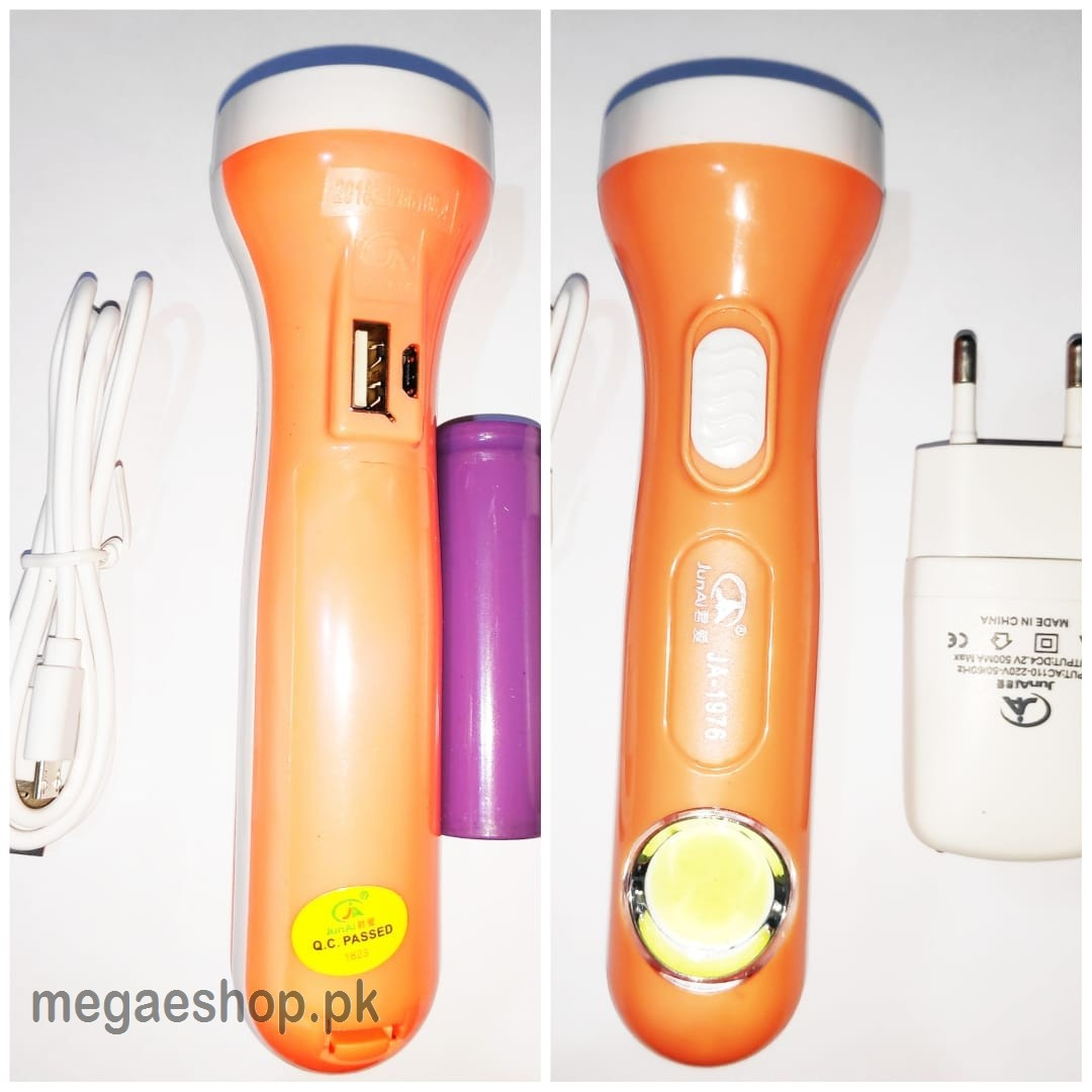 Rechargeable LED Torch with 1200mAh Battery COB Light