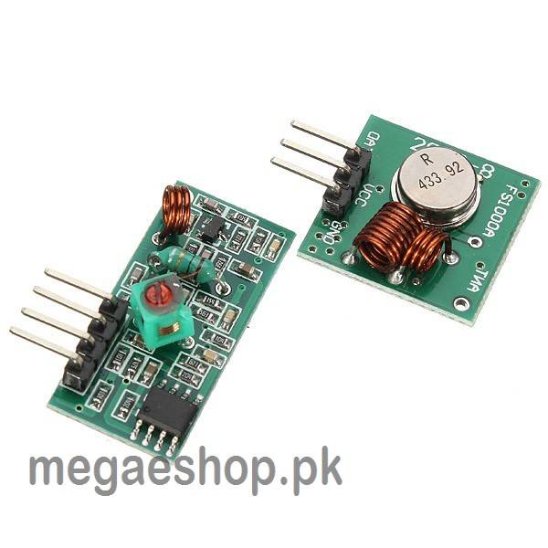 433mhz rf wireless receiver transmitter module kit