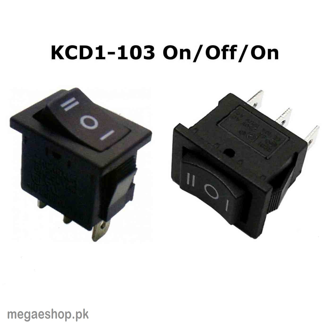 Boat Toggle Switches SPDT 3 Positions On Off On Rocker Switch Black AC 125V/10A 250V/6A