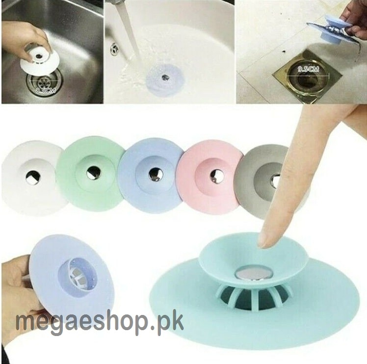 Flex Drain Stop and Hair Catcher for Bathroom or Kitchen