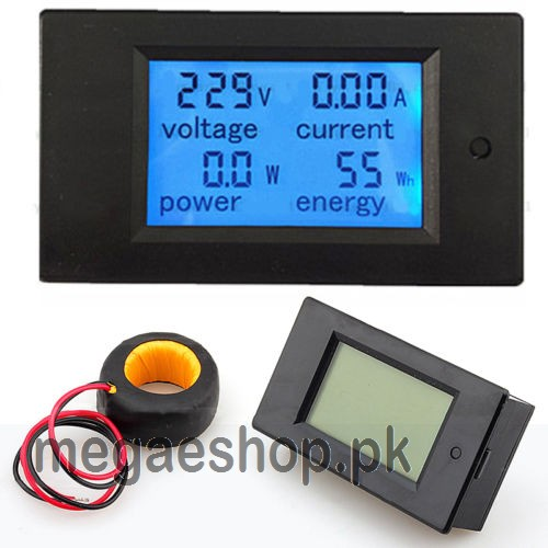 L De Voltage Meter : A v ac voltmeter power meter ammeter multimeter lcd