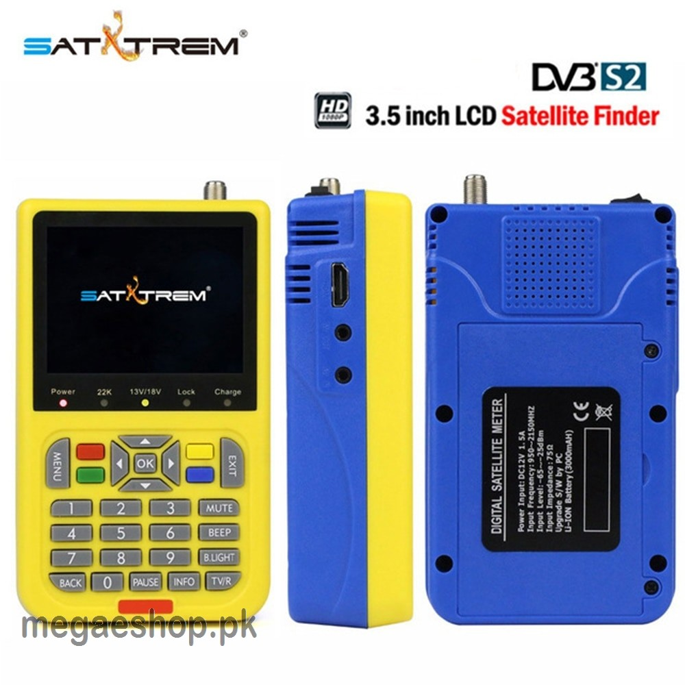 Satxtrem V8 1080P HD DVB-S / S2 high definition satellite finder MPEG-4 DVB S2 TLC satellite Satfinder PAL / NTSC