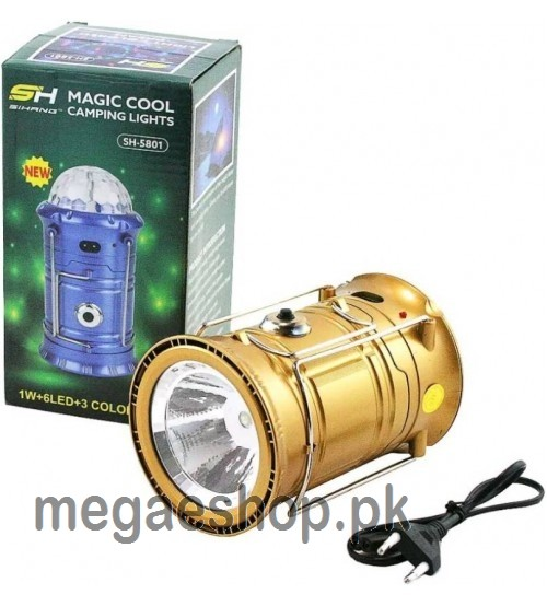 3 in 1 rechargeable outdoor camping Flashlight Lantern lamp & Disco