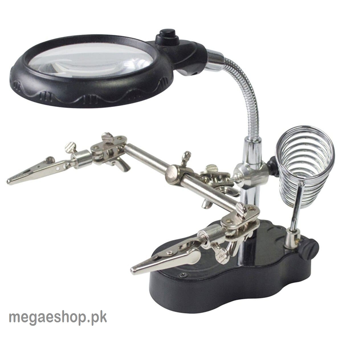 Helping Hand Magnifier LED Light With Soldering Stand For Repair Power Tools Accessory