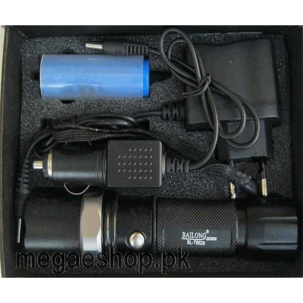 Power Style Cree Led 5000 Lumens Flashlight Zoom torch BL-T8626C-T6
