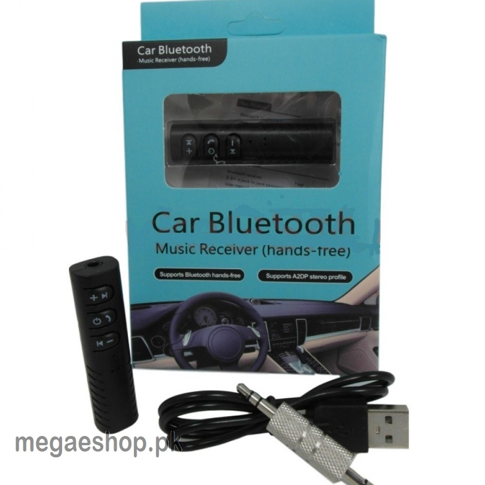Universal Wireless Bluetooth Car Kit BT-450 3.5mm Aux Jack Audio Music Receiver Adapter with Mic - B