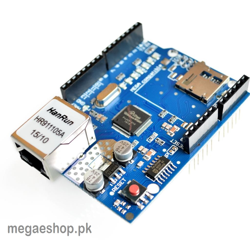 Ethernet Shield W5100 R3 Support PoE For Arduino UNO, Mega 2560, Nano