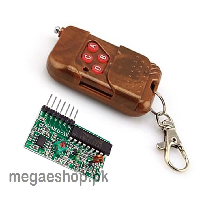 1set IC 2262/2272 4 Channel 315Mhz Key Wireless Remote Control Kits Receiver module For arduino(No battery)