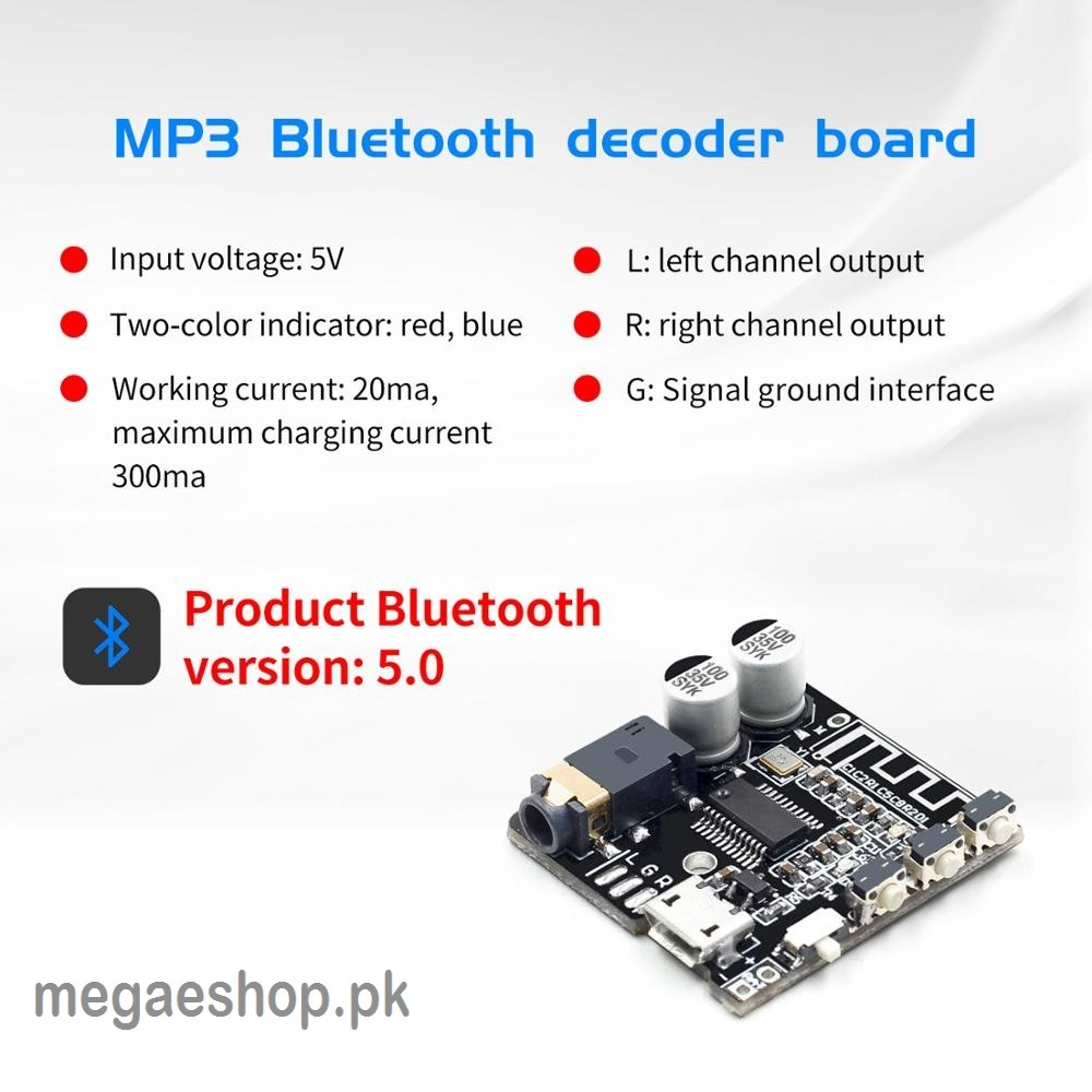 VHM-314 V.20 MP3 bluetooth Audio Receiving and Decoding Board 5.0 Lossless Car Audio Decoder Amplifier Module