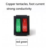 Double 6-pin On-Off boat rocker switch with red green light 8A 125VAC Square button switchDouble 6-pin On-Off boat rocker switch with red green light 16A 125VAC Square button switch