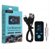 Car Bluetooth X6 Music Receiver Adapter 3.5mm Jack Wireless Handsfree Kit