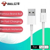 BULL 1M 3A Type C USB Fast Charging Cable and Data Transmission Compatible with all Smart Phones GN-US J6