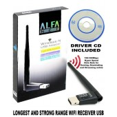 Alfa Wifi Net Wireless-N USB Adapter Fixed 3DBi Antenna Soft AP Wifi Utility For Windows For Pc - W113