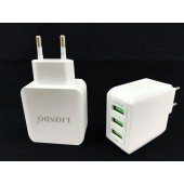 LIONDO Chargers Euro Plug Smart Charge 3.1A 3-USB Travel Wall Charger for IOS and android phones