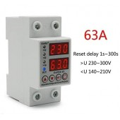 SINOTIMER SVP-63A 63A Over Under Voltage & Over Current Protection Device Voltage Relay Protector