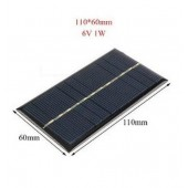 Solar Panel 6V 1W 110*60mm Sunpower DIY Module Panel System Solar Lamp Battery Phone Charger