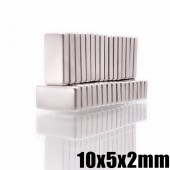 N35 Rectangular magnets of 10x5x2 mm Super Strong Neodymium NdFeB magnet