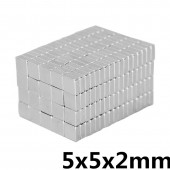 5x5x2mm N35 strong Square NdFeB rare earth magnet 5 * 5 * 2mm neodymium magnets, 5mm x 5mm x 2mm