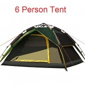 6 Person Automatic Dome Tent Double-Layer Waterproof Tent for Camping Hiking
