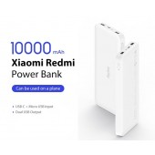 Xiaomi-Redmi Power Bank 10000mAh PB100LZM Dual Output & Input Micro-USB & Type-C Power Bank
