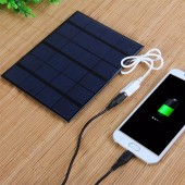 Solar panel USB Solar Mobile phone Charger 6v 3.5w 580-600MA