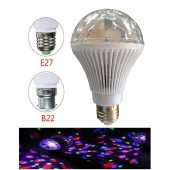 3W 85-265V Dancing RGB Fullcolor Rotating Lamp Multicolor Auto Rotating LED Bulb