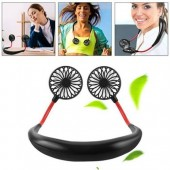 Neck Hanging Hands Free USB Portable Fan Mini Portable USB Charging Sports Folding Fan 3 Gear Usb Air Conditioner
