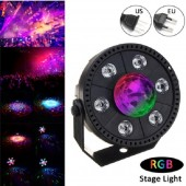 RGB LED Stage Light Voice and Music controlled Strobe Light Crystal Ball Party Club DJ Disco Atmosphere Light