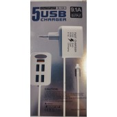 5 Usb Powerful 9.1A Fast Mobile Phone Travel Charger EU Plug 5 Usb