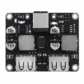 Dual 2 Double USB Fast Charger Buck Module Input 6V- 30V Single Port 24W Support QC2.0 QC3.0 QC 2.0 3.0 Car Vehicle Board