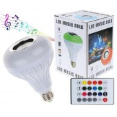 Led music bulb RGB wireless bluetooth light bulb with speaker / 24-key remote control bulb