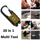 Multi-functional 20 in 1 EDC Keychain for Camping, Hiking Travel
