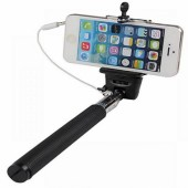 Selfie Stick With Extendable Audio Cable