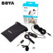 Boya BY-M1DM Lavalier microfone 3.5mm Microphone for Canon Audio Recorder / iPhone DSLR