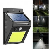 Rechargeable Solar Powered PIR Motion Sensor Light Outdoor Garden Security Wall Lamp